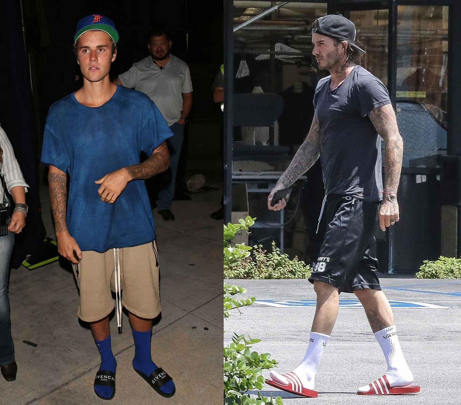 Muške sandale ili papuče i čarape