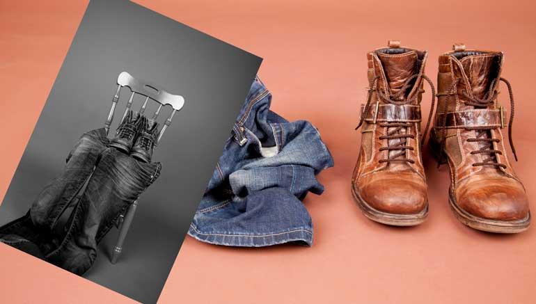 Muške čizme i farmerke